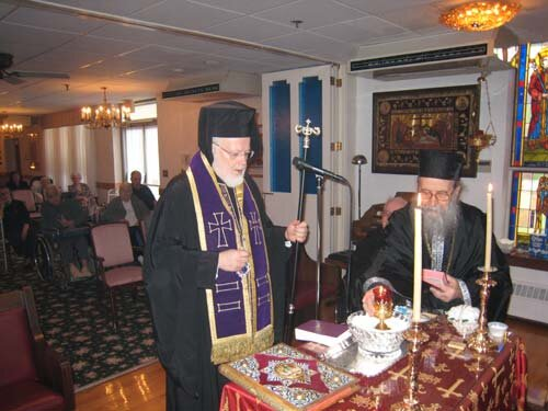 ... the Holy Unction Service at the hellenic Nursing Home, Canton, MA