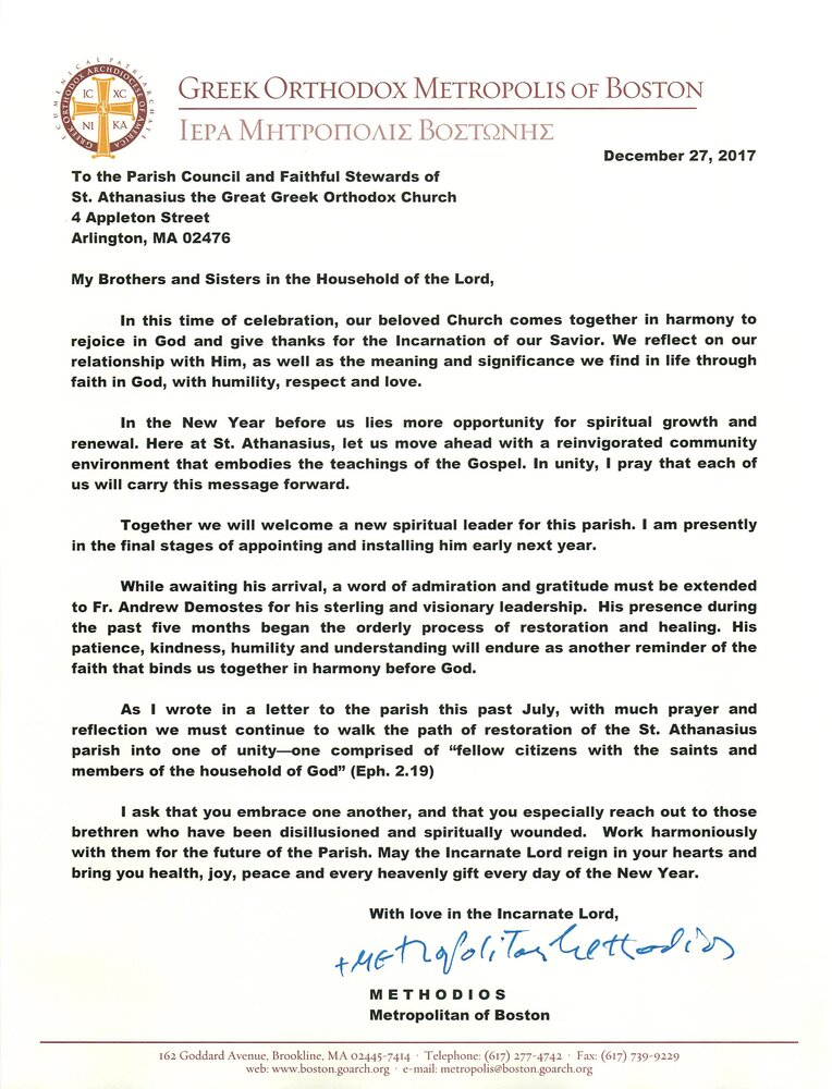 Metropolitan methodios christmas letter to the arlington community metropolitan methodios christmas letter to the arlington community thecheapjerseys Image collections